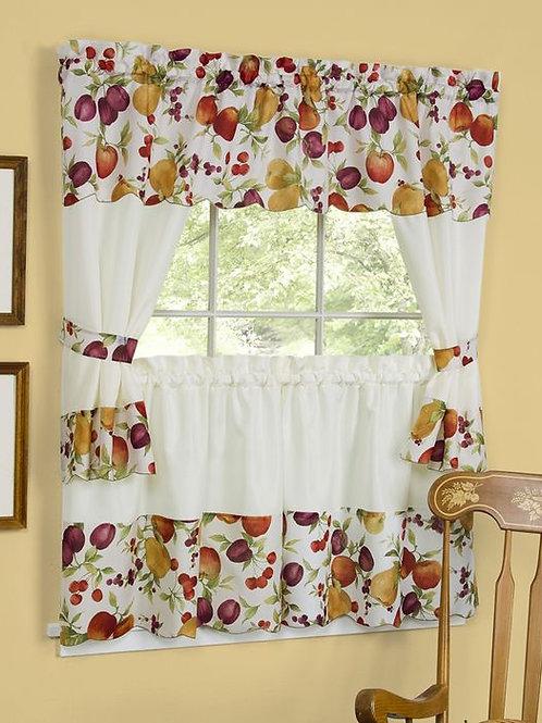Chesapeake Embellished Cottage Window Curtain Set