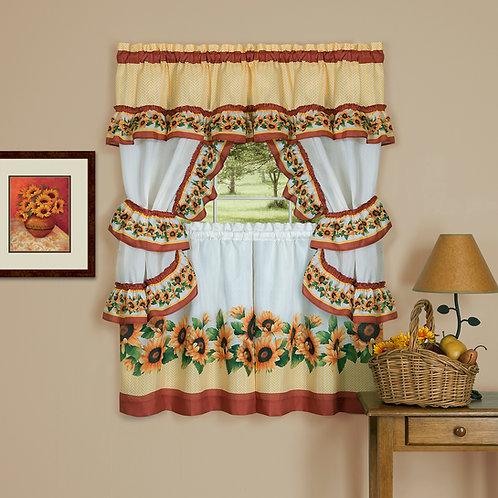 Black Eyed Susan Cottage Window Curtain Set