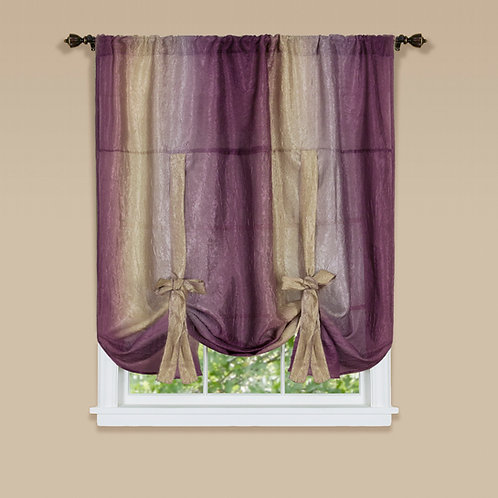 Ombre Window Curtain Tie Up Shade