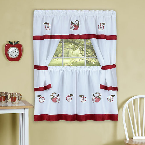 Gala Embellished Cottage Window Curtain Set