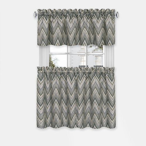 Avery Window Curtain Tier Pair and Valance Set