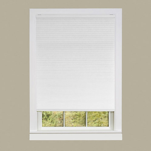 Cordless Honeycomb Cellular Pleated Shade - White