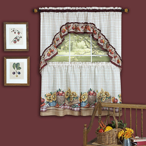 Apple Orchard Cottage Window Curtain Set