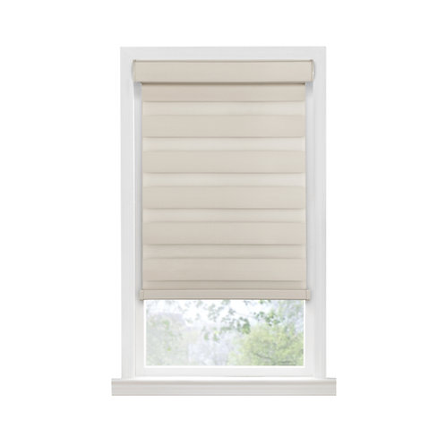 Cordless Celestial Room Darkening Double Layered Shade - Tan