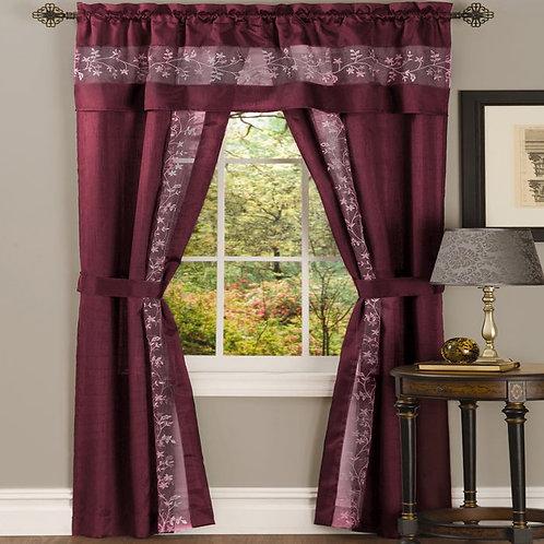 Fairfield 5 Piece Window Curtain Set