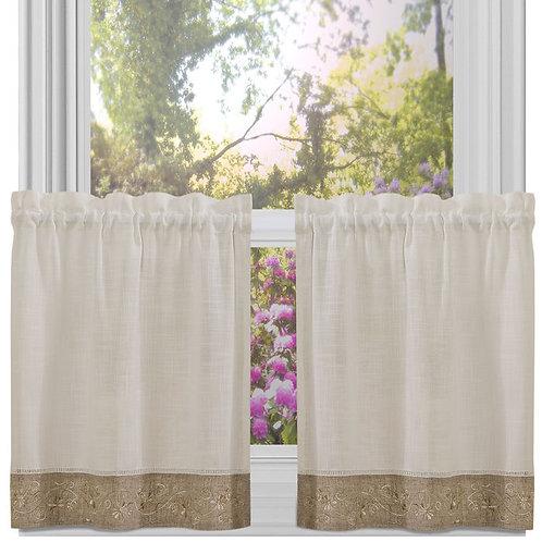 Oakwood 58x24 Window Curtain Tier Pair