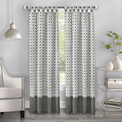 Callie Cuff Tab Top Window Curtain Panel