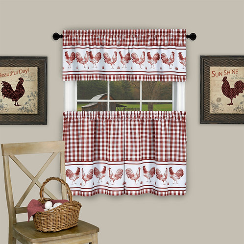 Barnyard Window Curtain Tier Pair and Valance Set