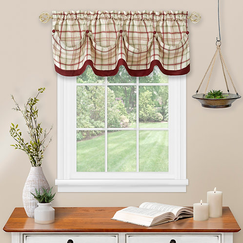 Tattersall Tuck Valance with Buttons
