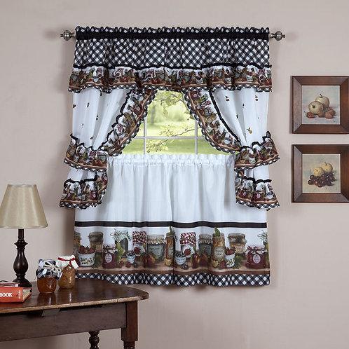 Mason Jars Window Curtain Set