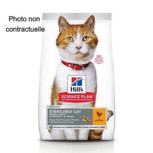 Hill's Science P. chat stérilised jeune adulte poulet ou thon 1.5 kg