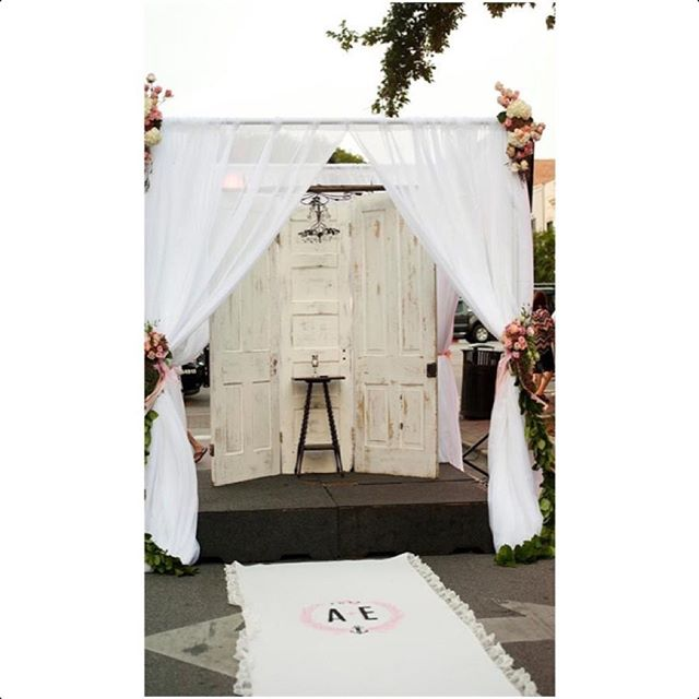 Need the perfect backdrop for your ceremony_ We can do that too! #WeddingWalls #pensacolaweddings #c