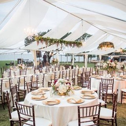 October weddings! 💜#designingwithfabric #chandeliers #chiavarichairs #elegantwedding #weddings #pen