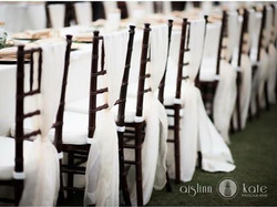 Everyone dressed to impress for this special event even the chairs! #weddingdetails #weddingwalls #p
