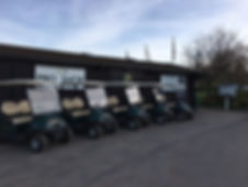 Golf courses with buggies in westerham