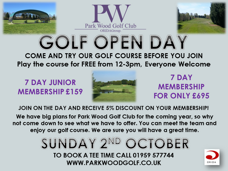 Park Wood Golf Club Open Day