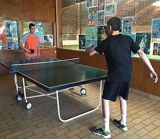 Ping pong intérieur de l'Académie Pau Pyrénées