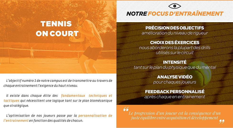 tennis-études - programme on court