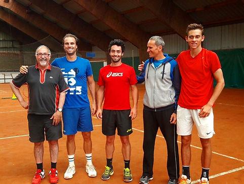 Rancezot et Fontang à l'académie pau pyrénées tennis