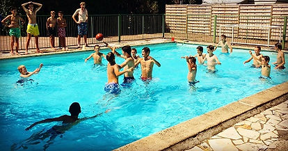 Water-polo lors du stage de tennis à l'Académie Pau Pyrénées