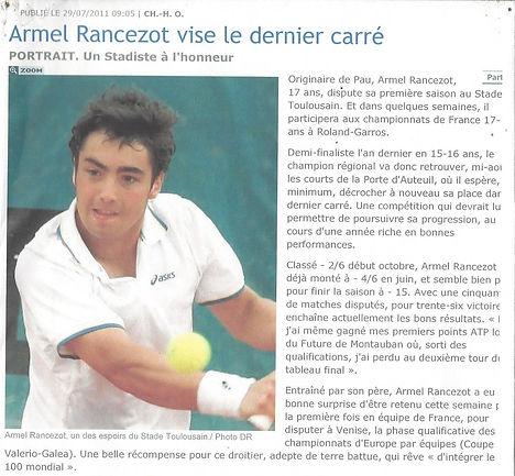 Armel Rancezot au stade Toulousain