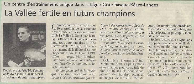 Eclosion de futurs champions de tennis à l'académie Pau Pyrénées