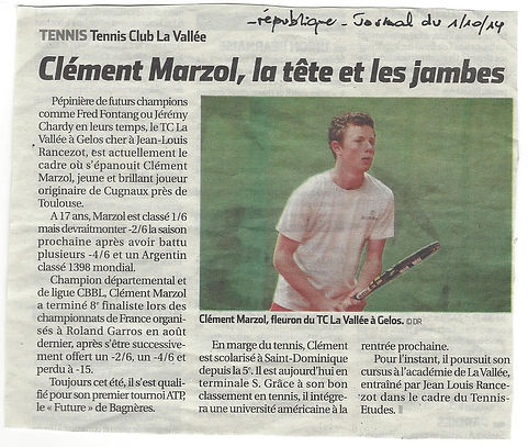 Clément Marzol à l'Académie Pau Pyrénées