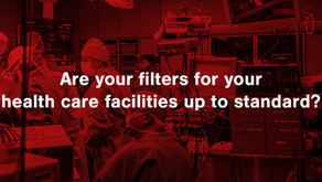 Updated HVAC filtration standards for healthcare facilities.