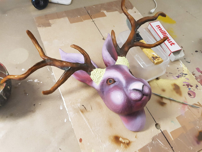 Jackalope Faux Taxidermy for The Cauldron