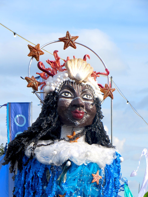 Giant Goddess of the Sea Carnival Puppet for WOMAD Festival 2016