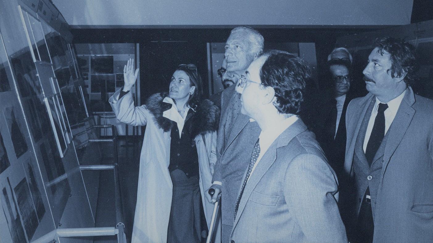 ... con Carlo Tognoli, Gianni Agnelli e Alfonso Grassi