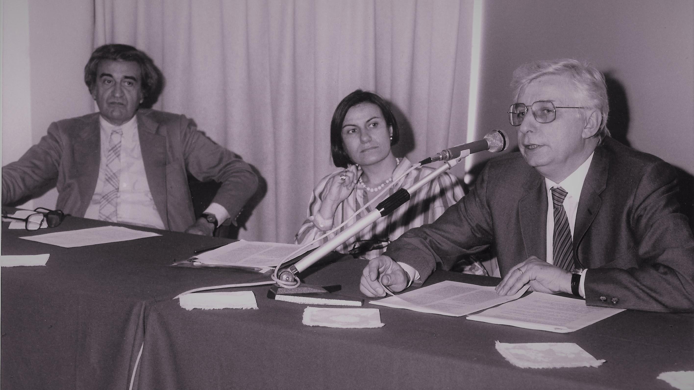 ... con Tomas Maldonado e Augusto Morello