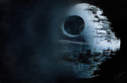 Digital painting of Death Star from Star Wars