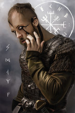 Digital painting of Floki from History Channel's Vikings