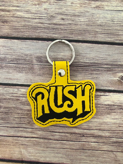 Rush Embroidered Key Chain