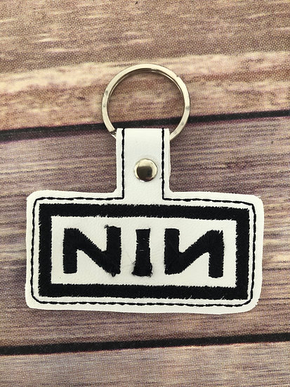 NIN Band Embroidered Key Chain