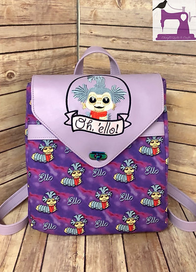 oh, Ello! Maze Worm themed Backpack -Made to Order