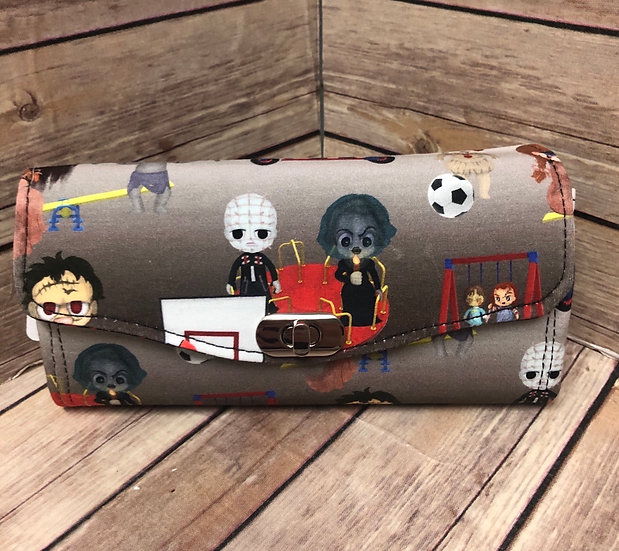 Horror Playground themed Necessary Clutch Wallet-Ready to Ship