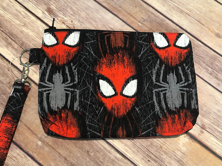 Spider-man Themed Wristlet - Ready to Ship