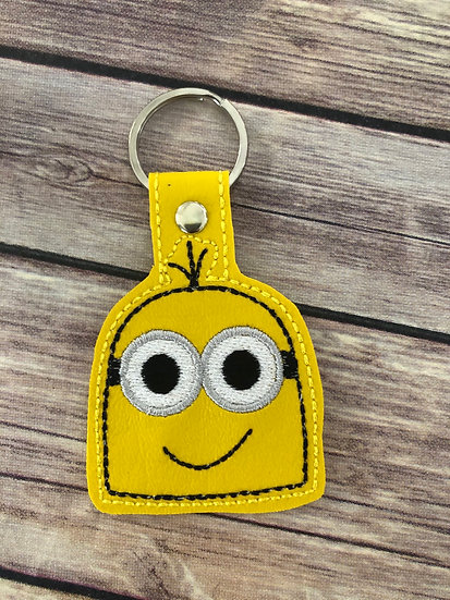 Minion Head Embroidered Key Chain