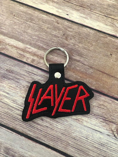 Slayer Embroidered Key Chain