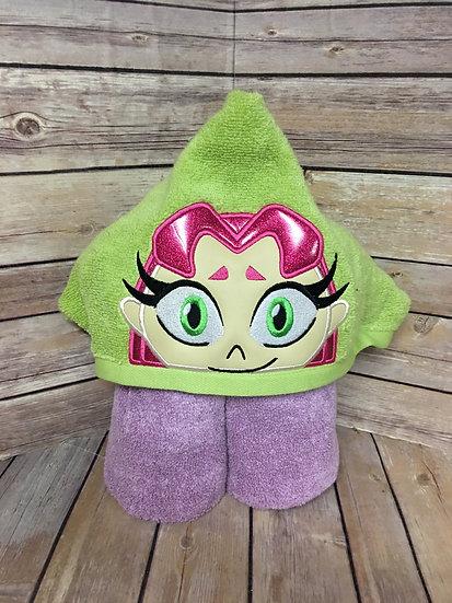 Teen Princess Hooded Towel