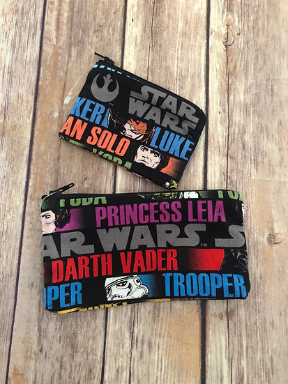 Star Wars Characters Names Zipper Pouch - Ready to Ship