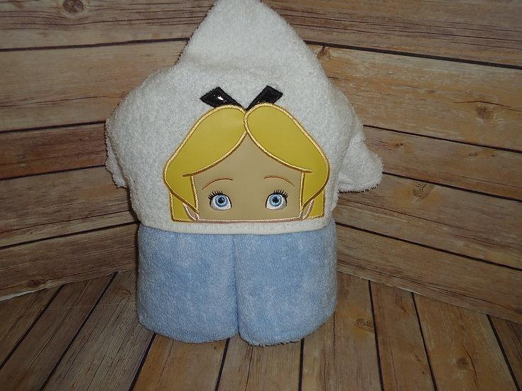 Alice Inspired Hooded Towel