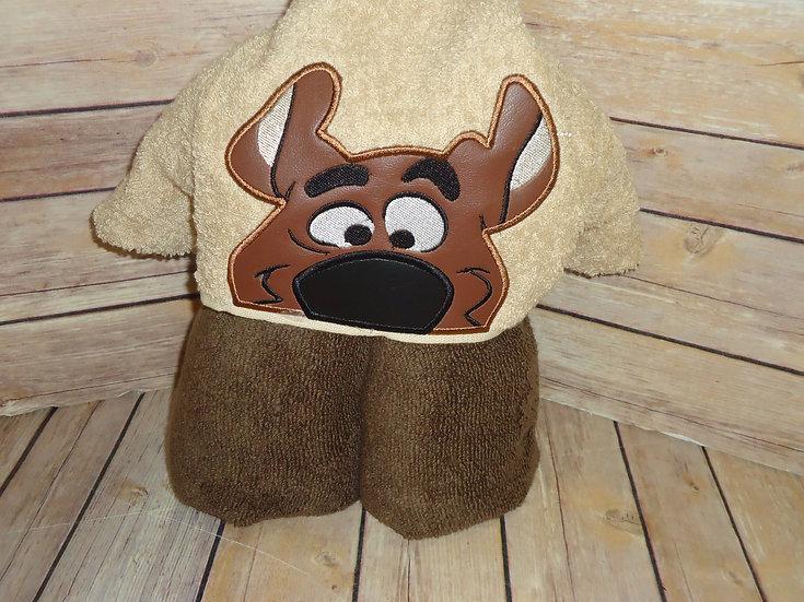 Scooby Doo  Inspired Hooded Towel