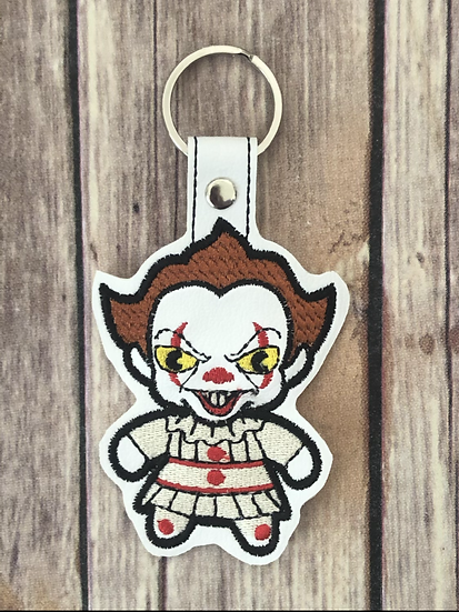 Pennywise Chibi Embroidered Key Chain