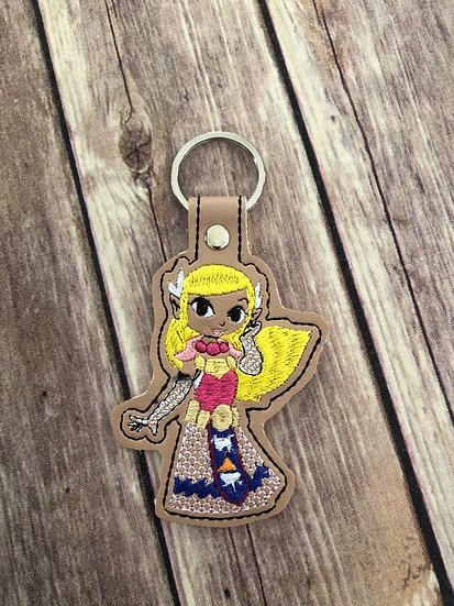 Princess Zelda Embroidered Key Chain