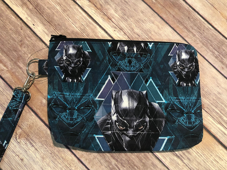 Black Panther Themed Wristlet - Ready to Ship