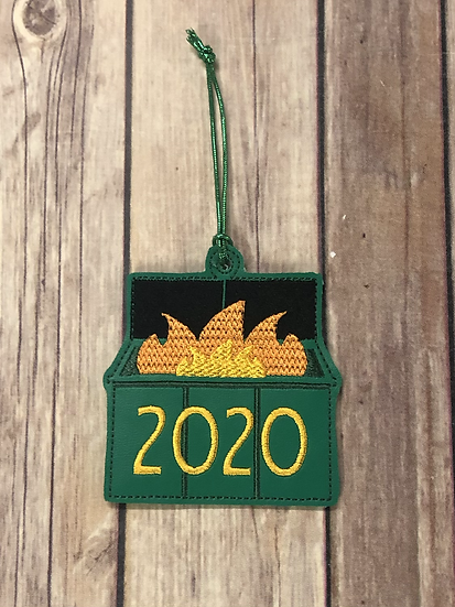 2020 Dumpster Fire Ornament - Made to Order