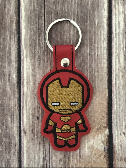 Iron Man Chibi Embroidered Key Chain